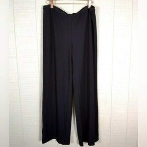 J. Jill Ponte Knit Full Leg Pants Wide Black